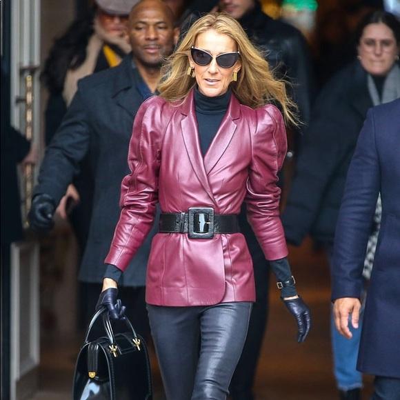 Escada Jackets & Blazers - Escada Belted Leather Blazer